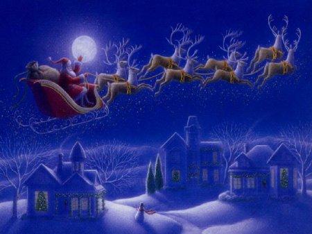 Immagine Babbo Natale con renne