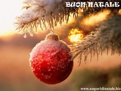 Pallina di Natale rossa