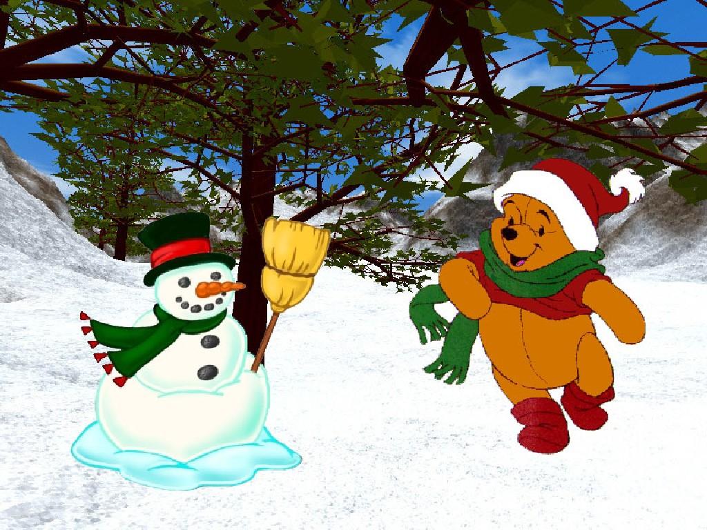 Sfondi Natalizi Bellissimi.Bello Sfondo Di Natale Pooh Per Desktop