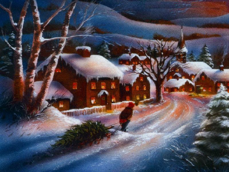 Sfondo Desktop Natale Paesaggio